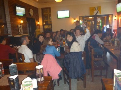Our crowd in Johnny Pub