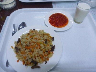 Last plov meal in Bishkek