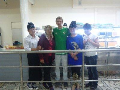Staff and friends at Daamduu Restaurant