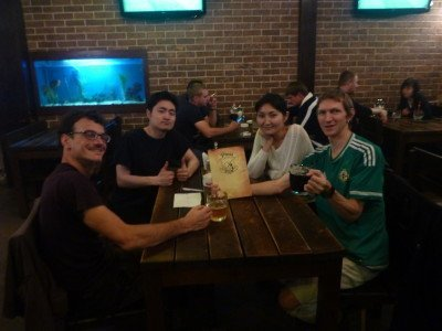 Last night in Pinta Pub, Bishkek