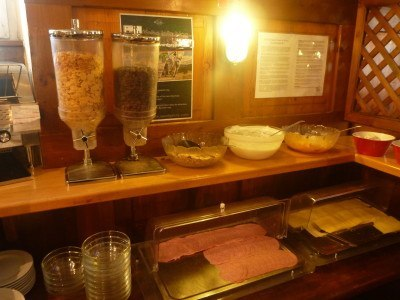 Breakfast at the YoHo hostel in Salzburg