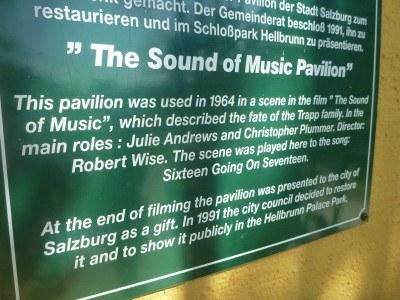 Information at the Gazebo in Hellbrun