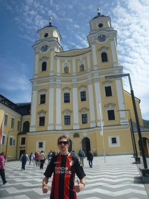 Outside the Church at Mondsee