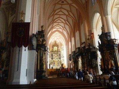 Inside the Church at Mondsee