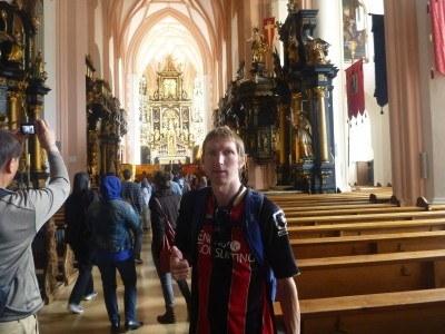 Inside the Church at Mondsee