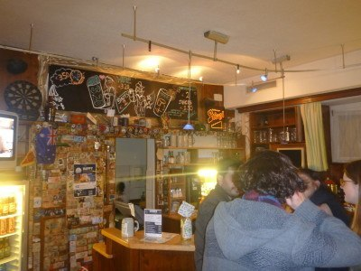 The bar at YoHo hostel