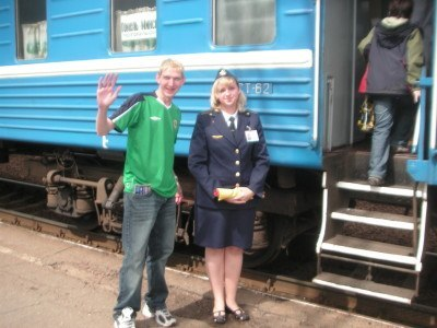 Getting a train from Minsk to Bobruisk in 2007
