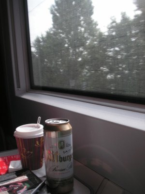 On a German train in 2007