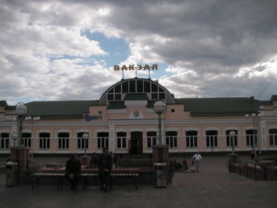 Main train station in Bobruisk, Belarus