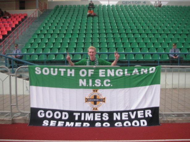 The only Northern Ireland football fan in Bobruisk, Belarus
