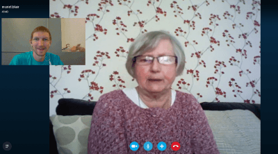 Skype with Mum