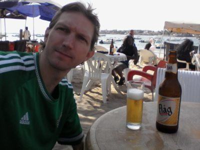 Relaxing at N'Gor beach, Senegal