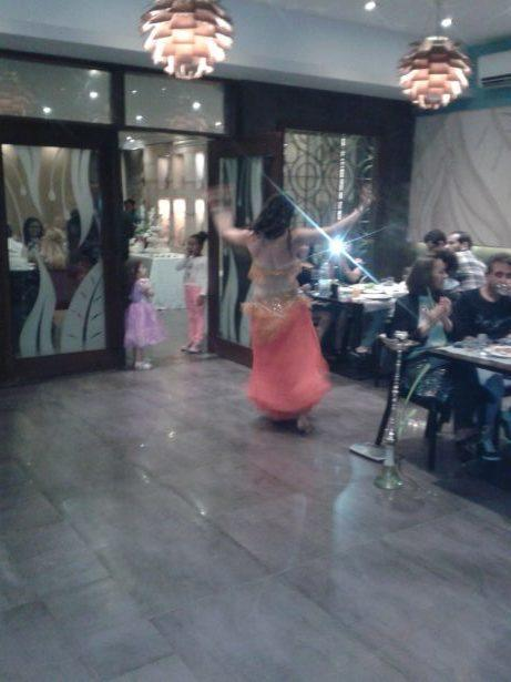 Mina in action in Farid Restaurant