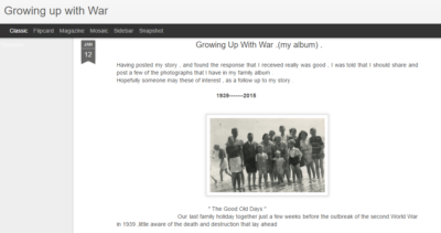 Growing up with war - Ron Hands