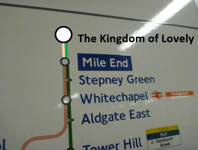 Kingdom of Lovely on tube map