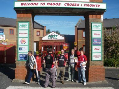 Backpacking in Wales: Magor Services