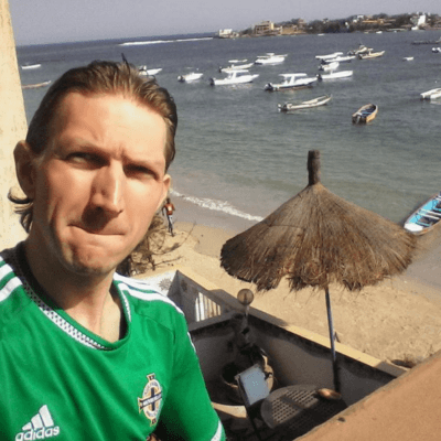 Relaxing at Maison Abaka Dakar Senegal