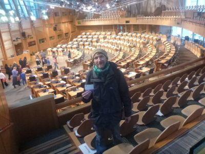 Backpacking in Scotland: Parliament in Edinburgh