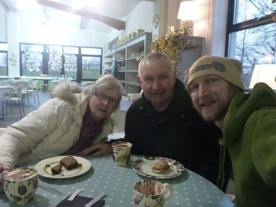 Coffee and cake with Mum and Dad