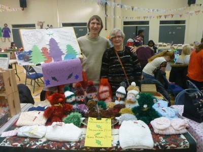 Helping Mum at a Christmas Fair in my old Primary School