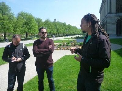 Timmy talking at Hofgarten