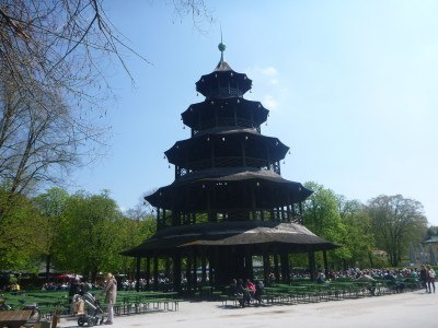 Chinese building in English Garten in Bavaria in Germany!