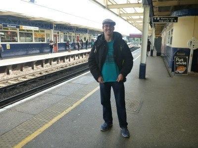 Millwall Neil at Richmond, changing trains