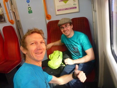 Millwall Neil and I on route to the Kingdom of Lovely