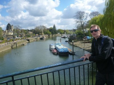 Crossing the Bridge to the Famous Eel Pie Island