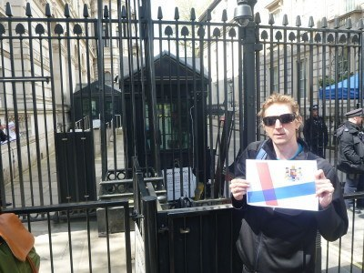 Jonny Blair at Ten Downing Street, Whitehall