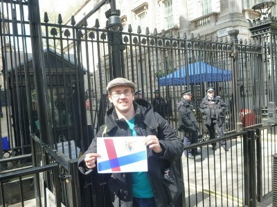 Millwall Neil at Ten Downing Street, Whitehall