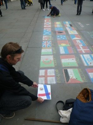 Kingdom of Lovely flag at Traffy's Q, London