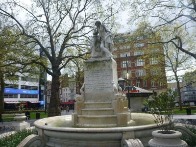 William Shakespeare statue in Lessy's Q