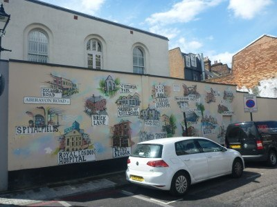 Wall art in Bow