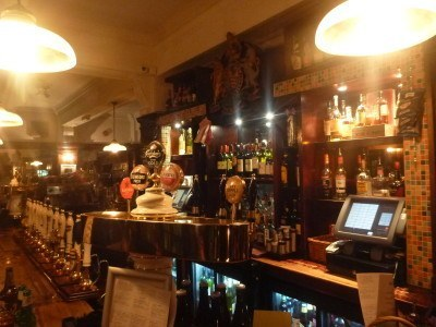 The bar in the Somerstown Coffee House