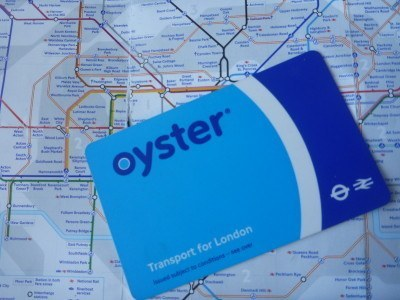 Oyster card and tube map - on route to Lovely