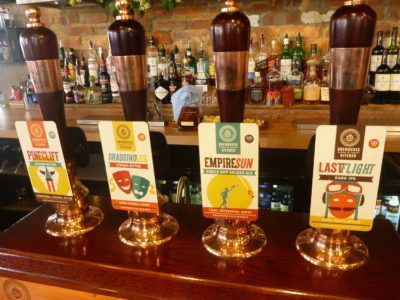 Beers on tap in the Brewhouse