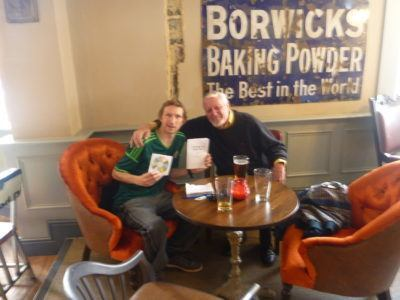 Ron and I in the Brewhouse, Southbourne, England