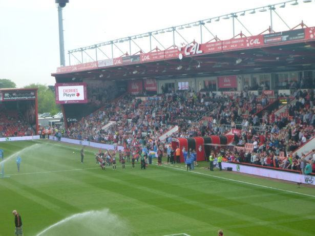 Teams come out at Dean Court