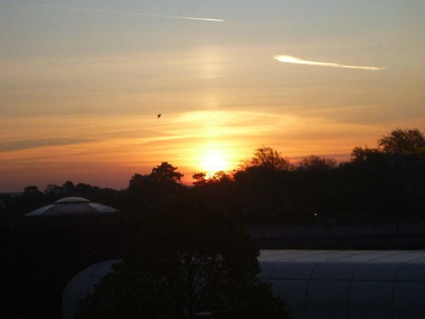 Sunrise at Gatwick Airport, London