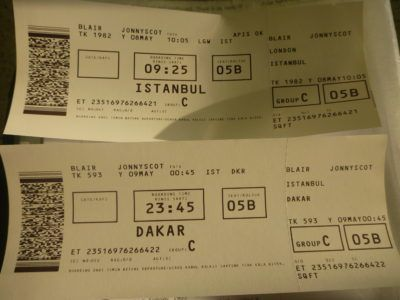 My boarding passes
