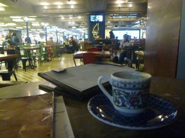 Turkish coffee in Ataturk Airport