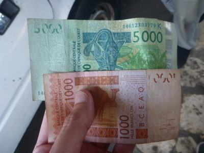 6,000 West African Francs for the ride