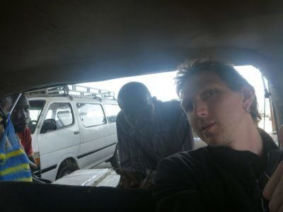 Waiting at the sept-place section in Dakar