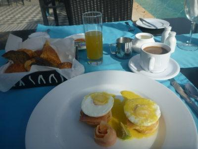Five star breakfast at the Coco Ocean Resort, Gambia