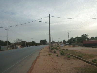 Main road at Brufut