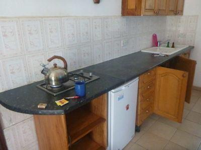 Self catering kitchen at Banana Lodge