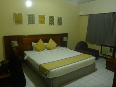 My cosy room at Hotel Baraka in Dowtown Dakar, Senegal