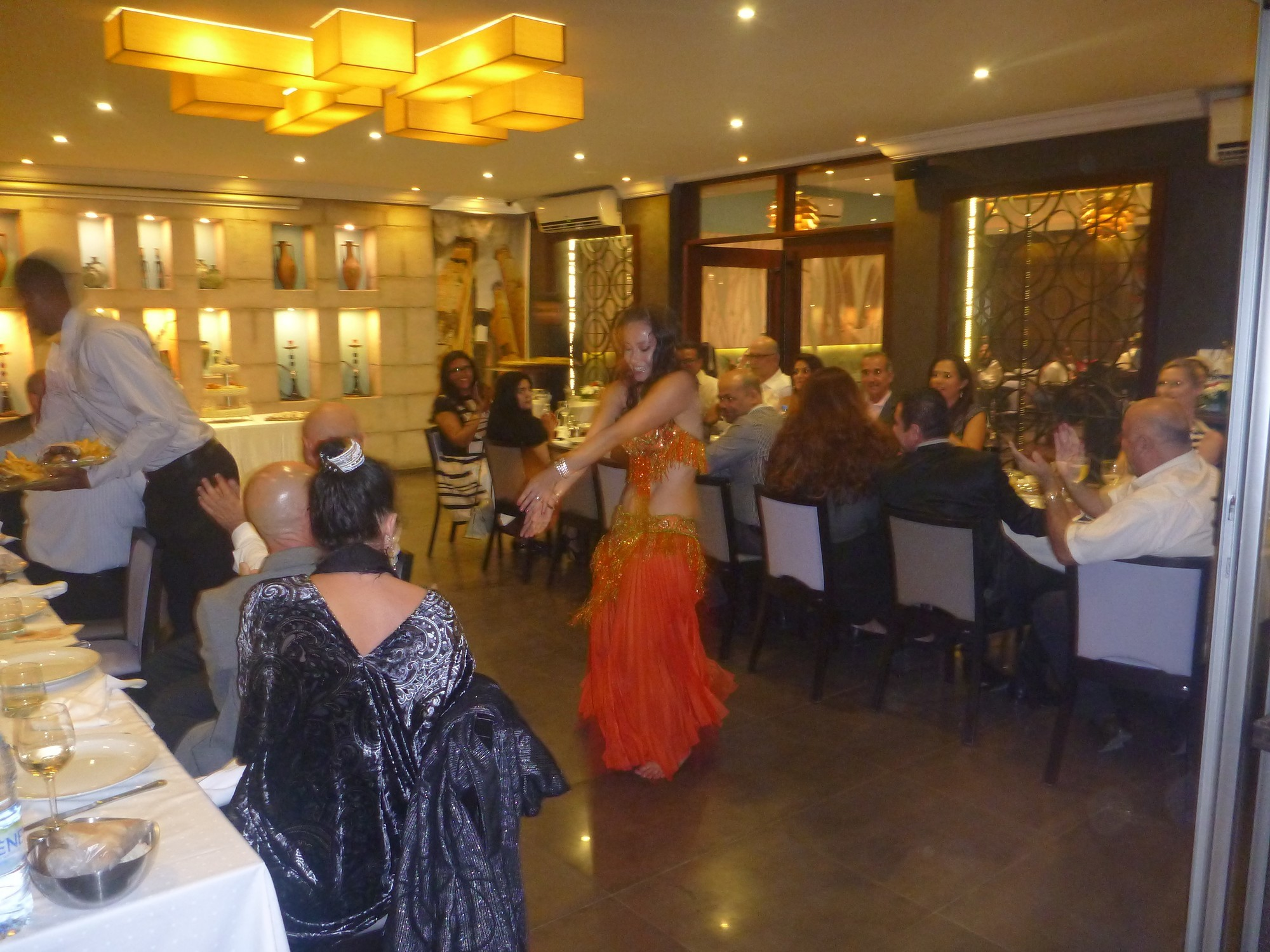Watching Belly Dancing in Restaurant Farid, Dakar, Senegal
