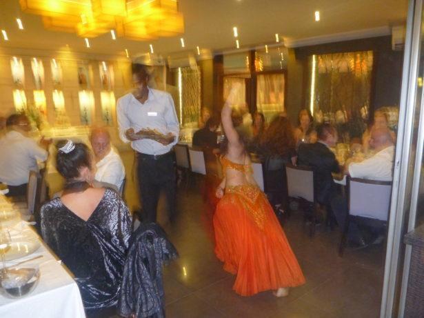 Mina in action in Farid Restaurant